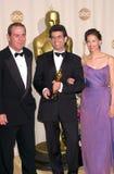 Ashley Judd,Lee Jones,The Matrix,Tommy Lee,Tommy Lee Jones,Editors. 26MAR2000:  'The Matrix' editor ZACH STAENBERG with actor TOMMY LEE JONES (left) & actress Stock Image