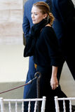Ashley Olsen. NEW YORK-MAY 5: Actress Ashley Olsen attends the ribbon cutting ceremony for the Anna Wintour Costume Center Grand Opening at the Metropolitan Stock Image