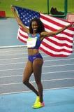 Ashley Spencer, ein amerikanischer Leichtathlet Lizenzfreies Stockfoto