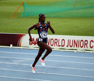 Ashley Spencer - gold medalists of the 400 meters Royalty Free Stock Photos