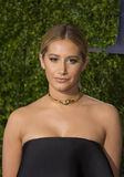 Ashley Tisdale Attends the 2015 Tony Awards. Actress Ashley Tisdale arrives on the red carpet for the 69th Annual Tony Awards at Radio City Music Hall in New Stock Photo