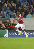 Ashley Young Champion League FC Brugge - Manchester United Stock Fotografie