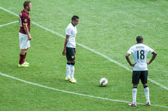 Ashley Young of Manchester United preparing to take a free kick Stock Photography