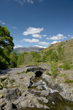 Ashness Bridge above Derwentwater Royalty Free Stock Photo