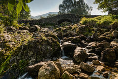 Ashness Bridge from downstream Royalty Free Stock Photo