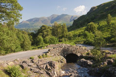 Ashness Bridge in the English Lake District Royalty Free Stock Photos