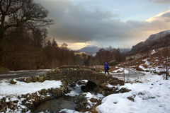 Ashness Bridge - Lake District - England Royalty Free Stock Photo