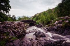 Ashness Bridge Lake District United Kingdom. Taken in 2017 taken in HDR Stock Photo
