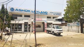 Ashok leyland tempo showroom indian factory stock photography