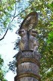 Ashoka柱子在Wat Umong Suan Puthatham的 免版税库存图片