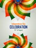 Ashoka Chakra στην ευτυχή ημέρα της ανεξαρτησίας του υποβάθρου της Ινδίας ελεύθερη απεικόνιση δικαιώματος