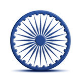 Ashoka Chakra. 3d Render with reflection stock illustration