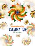 Ashoka Chakra på lycklig självständighetsdagen av Indien bakgrund vektor illustrationer
