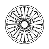 Ashoka Chakra symbol ilustracji