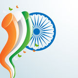 Ashoka Wheel with national flag color for Indian Independence Da Royalty Free Stock Image