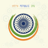 Ashoka Wheel with paint stroke for Indian Republic Day celebrati Royalty Free Stock Images