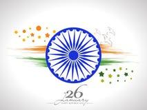 Ashoka Wheel with pigeons for Indian Republic Day celebration. Royalty Free Stock Images