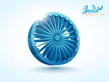 Ashoka Wheel for Republic Day celebration. 3D glossy Ashoka Wheel for Indian Republic Day celebration Stock Photography