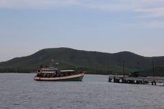 Ashore. Boat pier smaesanisland Royalty Free Stock Photography