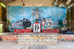 Ashram de Beatles, Rishikesh Fotos de Stock Royalty Free