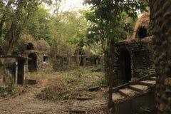 Ashram de Beatles, ruínas na selva Fotos de Stock Royalty Free
