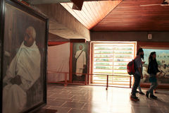 Ashram di Gandhi Immagine Stock