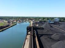 Ashtabula俄亥俄煤炭船坞 免版税库存照片