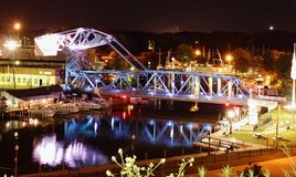 Ashtabula吊桥 免版税库存图片