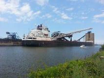 Ashtabula煤炭船坞 库存图片