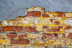 Ashtabula Ohio Red and Yellow Brick Wall stock photos