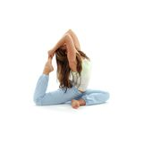 Ashtanga yoga #2. Lovely girl practicing ashtanga yoga over white royalty free stock image