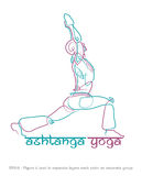 Ashtanga Yoga Logo 1. EPS10: Logo mockup for a Yoga related business. Easy to change the colors - all elements neatly on layers and Groups. Font used: Ananda Stock Photography