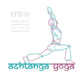 Ashtanga Yoga Logo 2. EPS10: Logo mockup for a Yoga related business. Easy to change the colors - all elements neatly on layers and Groups. Font used: Ananda Stock Photography