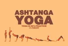 Ashtanga yoga Poster. Art design Royalty Free Stock Image