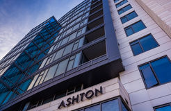 Ashton Apartment Building in Washington, gelijkstroom Royalty-vrije Stock Afbeeldingen