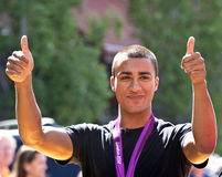 Ashton Eaton Olympian Thumbs Up Royalty Free Stock Images