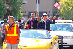 Ashton Eaton olympisk tiokampvinnare nummer ett royaltyfri foto