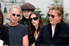 Ashton Kutcher,Billy Bob Thornton,Demi Moore,Don Johnson,Bruce Willis,Billy BOBS Thornton Royalty Free Stock Images