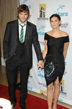 Ashton Kutcher, Demi Moore stock afbeelding