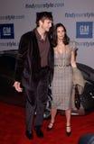 Ashton Kutcher, Demi Moore stock foto's