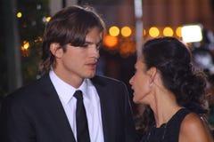 Ashton Kutcher en Demi Moore stock fotografie