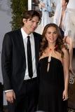 Ashton Kutcher & Natalie Portman royaltyfri fotografi