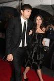 Ashton Kutcher och Demi Moore arkivbild