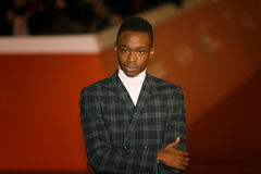 Ashton Sanders. Rome, Italy - October 13, 2016. Red Carpet of the film `Moonlight` with actor Ashton Sanders royalty free stock image