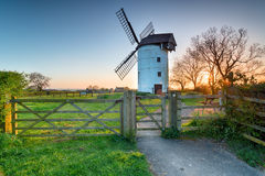 Ashton Windmill in Somerset. Sunset at Ashton Wintdmill in Somerset royalty free stock photos