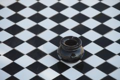 ashtray ανασκόπηση ελεγμένη Στοκ Εικόνες