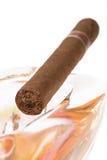 ashtray πούρο Κουβανός Στοκ Εικόνες