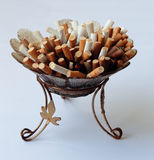 ashtray σύνολο τσιγάρων Στοκ Εικόνες