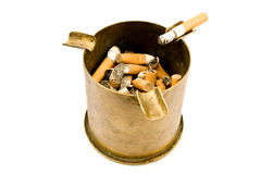 ashtray χτυπά βρώμικο Στοκ Φωτογραφία