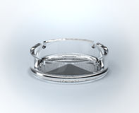 Ashtray. 3d rendered glass ashtray over a white background Stock Photography